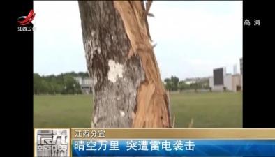 江西分宜:晴空萬裏 突遭雷電襲擊