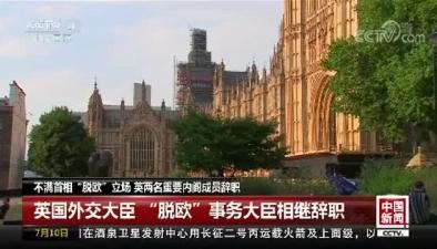 """不滿首相""""脫歐""""立場 英兩名重要內閣成員辭職"""
