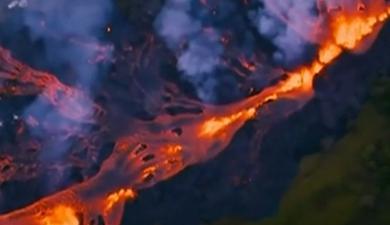 """夏威夷火山""""藍色火焰""""源自甲烷"""
