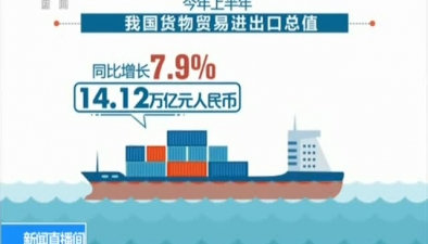 上半年外貿進出口同比增長7.9%
