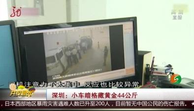 深圳:小車暗格藏黃金44公斤