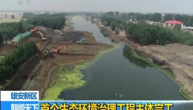 雄安新區:首個生態環境治理工程主體完工