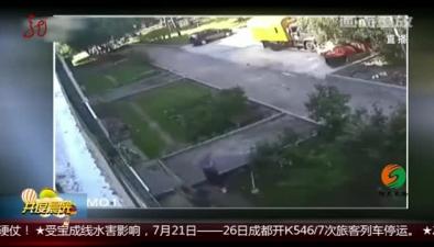 俄羅斯:工人勇接墜樓男童