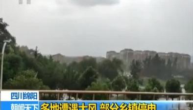 四川綿陽:多地遭遇大風 部分鄉鎮停電