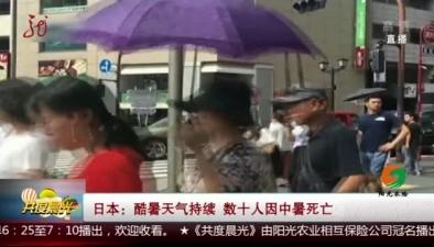 日本:酷暑天氣持續 數十人因中暑死亡