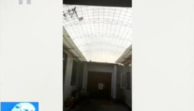 天津靜海:龍卷風致民房受損 一人受輕傷