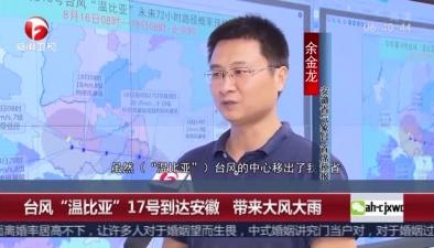 """臺風""""溫比亞""""17號到達安徽 帶來大風大雨"""