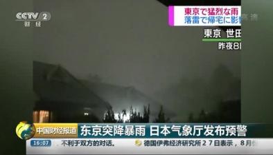 東京突降暴雨 日本氣象廳發布預警