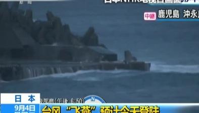 """日本:臺風""""飛燕""""預計今天登陸日本全國或將迎狂風暴雨天氣"""