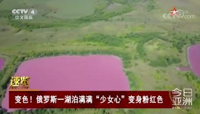 """變色!俄羅斯一湖泊滿滿""""少女心""""變身粉紅色"""