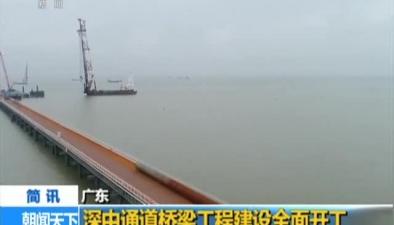 廣東:深中通道橋梁工程建設全面開工