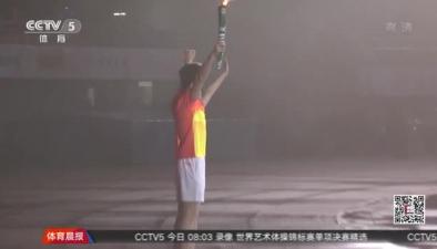 孫楊點燃浙江省第十六屆運動會聖火