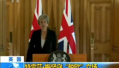 """英國:特雷莎梅堅守""""脫歐""""立場"""