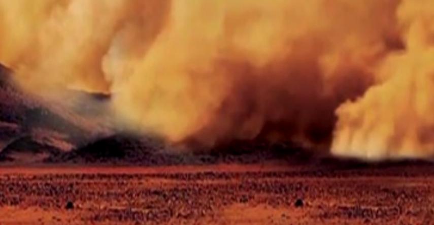 土衛六上首次發現塵暴