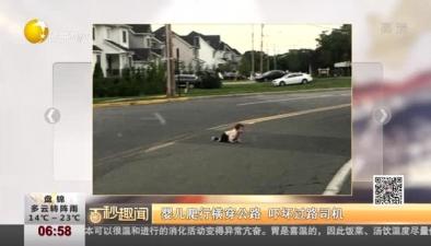 嬰兒爬行橫穿公路 嚇壞過路司機