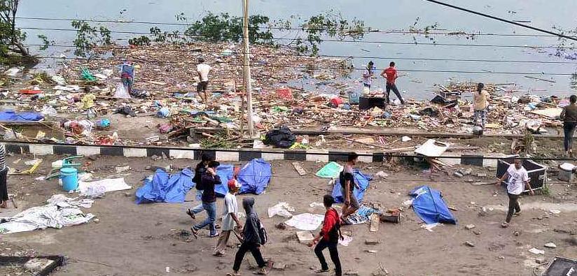 印尼強震引發海嘯傷亡慘重:已致1234人遇難 99人失蹤