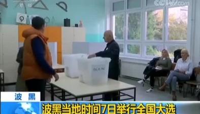 波黑當地時間7日舉行全國大選