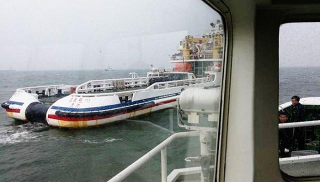 遼寧:葫蘆島一運砂船翻沉 11名船員失聯