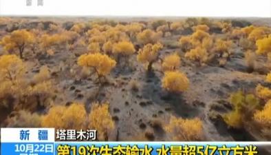 新疆塔裏木河:第19次生態輸水 水量超5億立方米