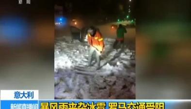 意大利:暴風雨夾雜冰雹 羅馬交通受阻