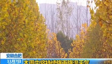 安徽合肥:本周內將持續降雨降溫天氣