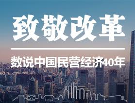 致敬改革!數説中國民營經濟40年