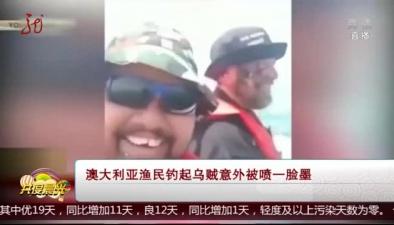 澳大利亞漁民釣起烏賊意外被噴一臉墨