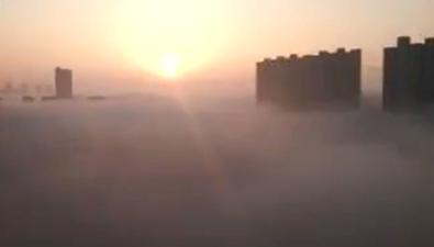 安徽多地現空中樓閣景觀