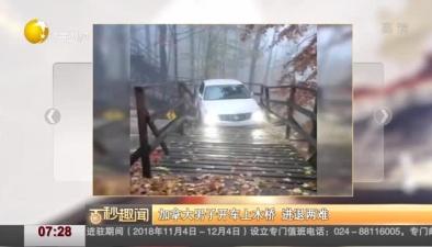 加拿大男子開車上木橋 進退兩難