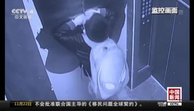 江西撫州:男孩用傘卡電梯門被困 緊急救援