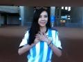 微視世界杯:周韋彤穿阿根廷戰衣,祝阿根廷走得更遠