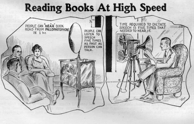 """1927年""""电子阅读器""""为快速阅读提供思路"""