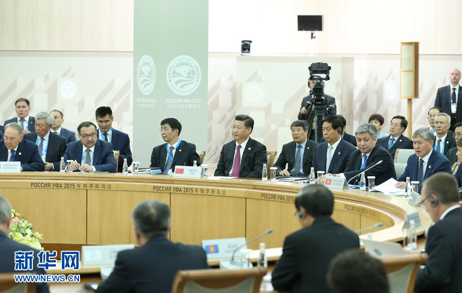 7月10日,上海合作組織成員國元首理事會第十五次會議在俄羅斯烏法舉行。國家主席習近平出席會議並發表重要講話。 新華社記者 龐興雷攝