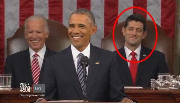 奥巴马讲咨文绝地身后伏地表情亮了(图)魔小哥搞笑图国情求生图片