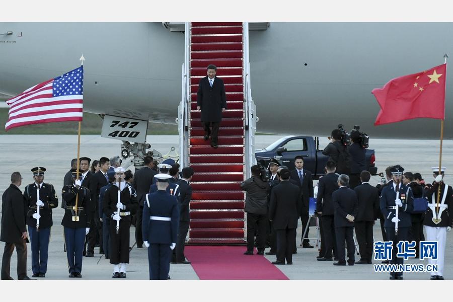 3月30日,國家主席習近平抵達美國首都華盛頓,應美國總統奧巴馬邀請,出席第四屆核安全峰會。 新華社記者 謝環馳 攝
