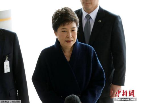當地時間3月21日,韓國史上第一位遭彈劾下臺的總統樸槿惠前往首爾中央地方檢察廳接受調查。