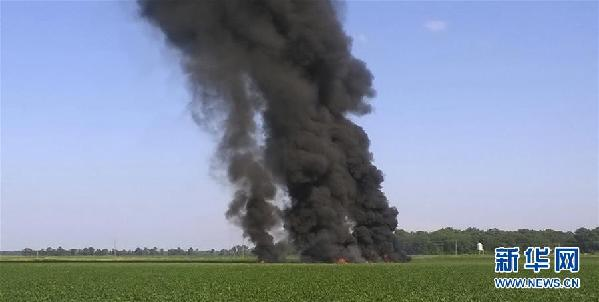(國際)(1)美軍一架空中加油機在密西西比州墜毀