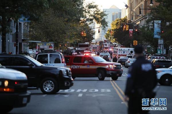 (國際)(9)紐約曼哈頓發生卡車撞人恐怖襲擊事件8人死亡