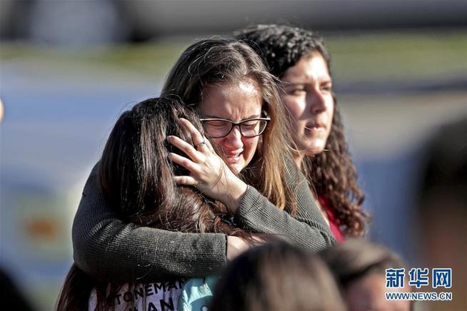 (國際)(1)美國佛羅裏達州一高中發生槍擊案