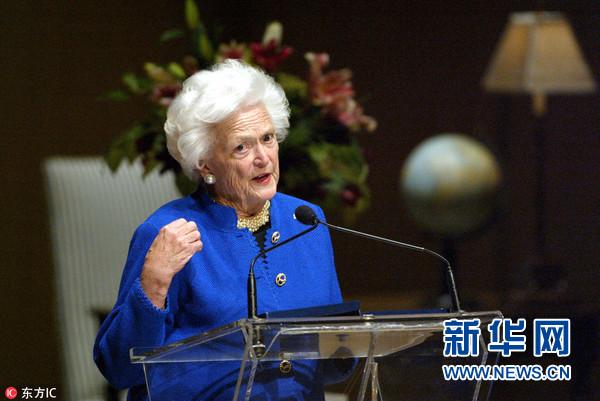 前美国第一夫人、老布什夫人芭芭拉·布什去世 享年92岁