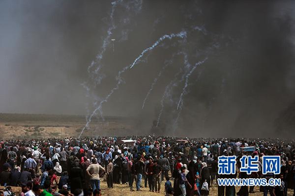 321k北京赛车:巴勒斯坦抗议者与以军冲突致55名巴勒斯坦人死亡