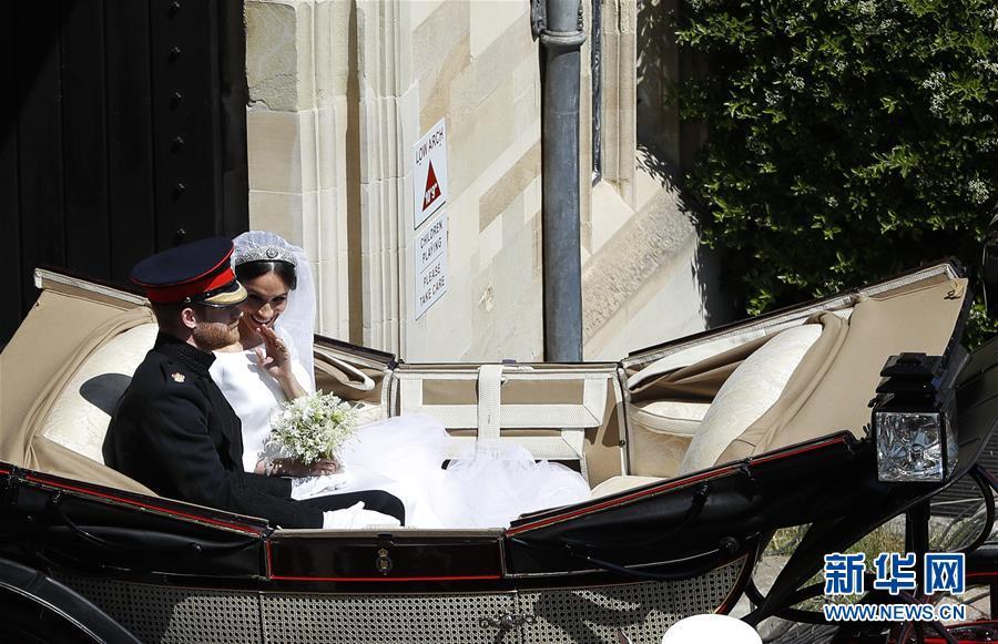 (国际)(4)英国哈里王子与梅根·马克尔在温莎城堡举行婚礼