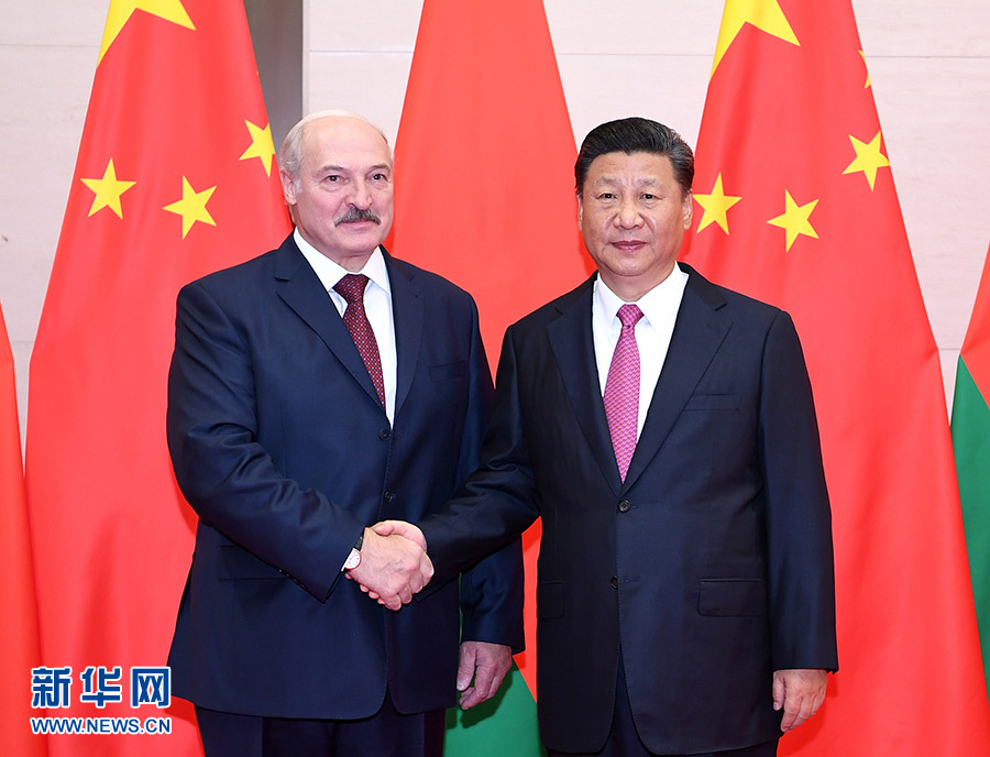 习近平会见白俄罗斯总统卢卡申科