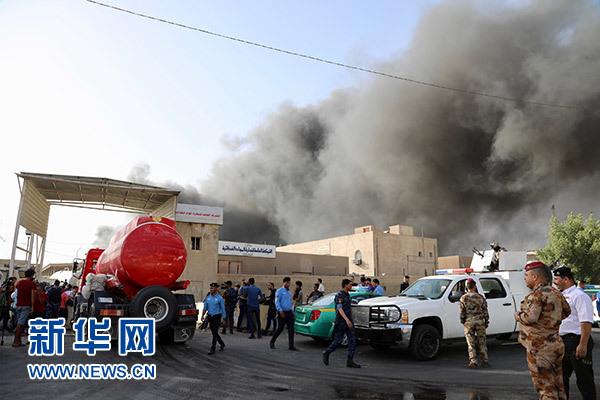 巴格达存放国民议会选举投票箱的仓库发生大火