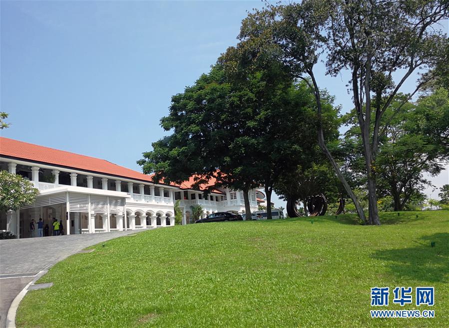 (国际)(1)探访朝美领导人会晤地点——新加坡嘉佩乐酒店