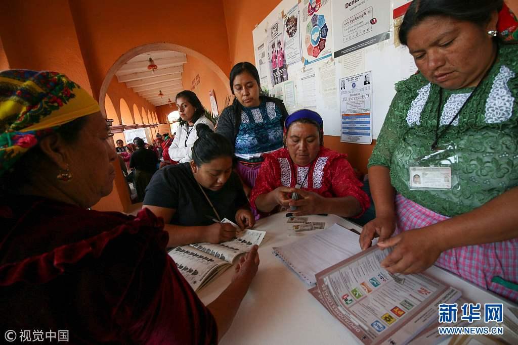 墨西哥总统推举开端投票(组图)