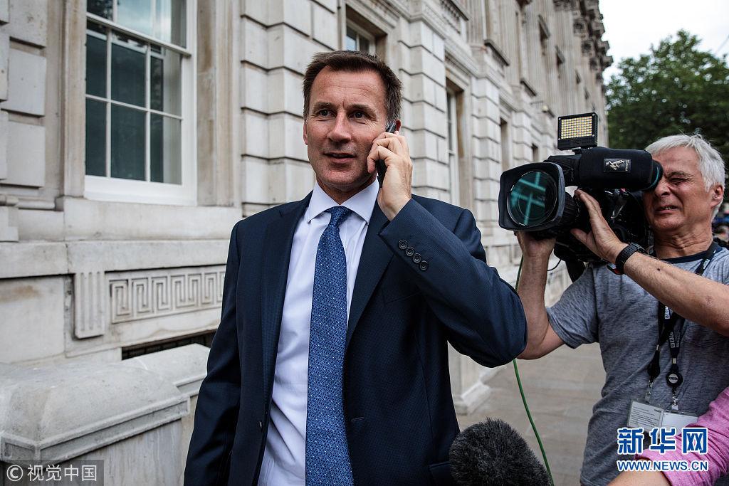英国任命杰里米 亨特为新任外交大臣