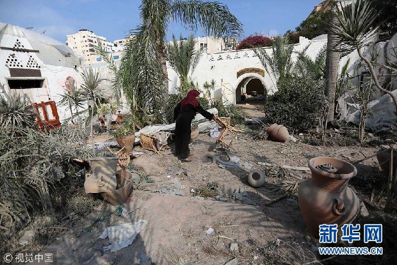 以色列空袭加沙地带哈马斯目标 造成当地建筑损毁