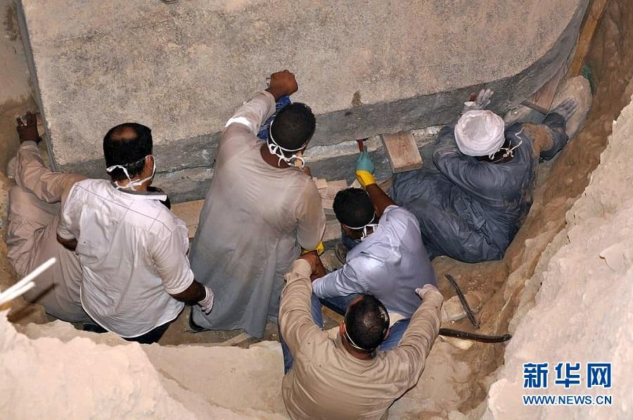 埃及发现古代武士石棺