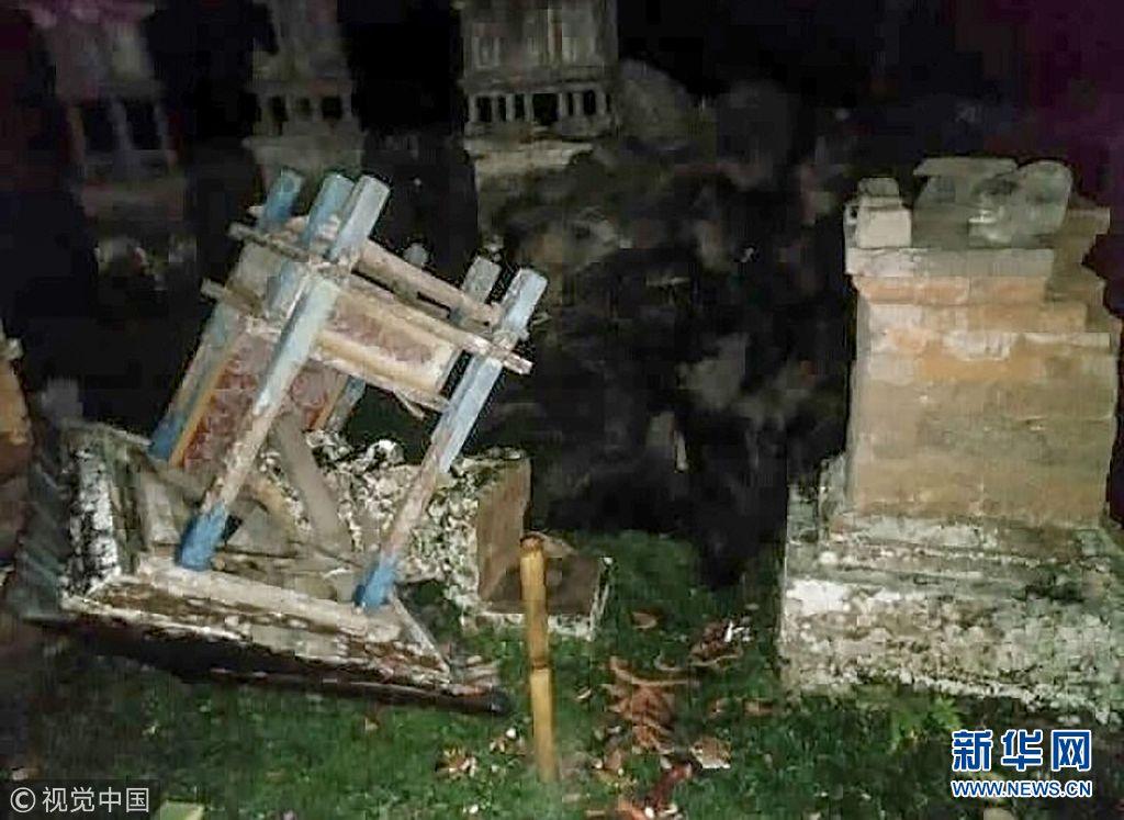 当地时间2018年8月5日,印尼巴厘岛登巴萨,龙目岛发生地震,当地震
